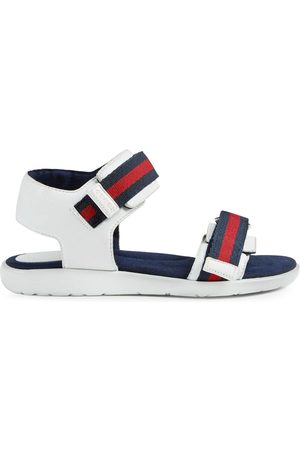 Gucci Boys Sandals - Children's leather sandal with Web