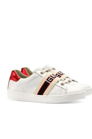 Gucci Children's Ace sneaker with Gucci stripe
