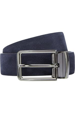 yd. Men Belts - Tuscan Suede Dress Belt Navy/ 38