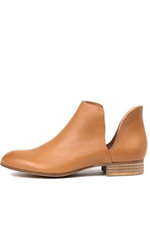 Django & Juliette Fecks Dk Tan Boots Womens Shoes Casual Ankle Boots