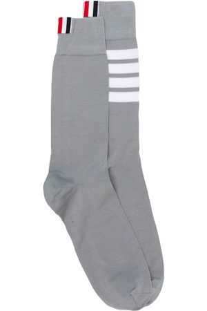 Thom Browne 4-Bar Mid-Calf Cotton Socks