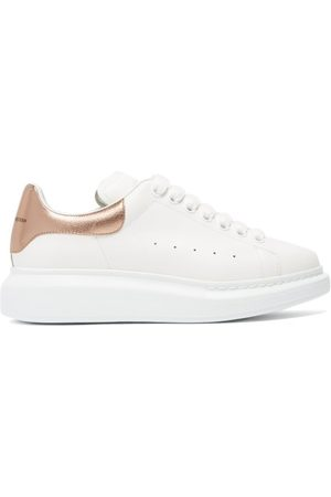 Alexander McQueen Oversized Raised-sole Leather Trainers - Womens - Multi