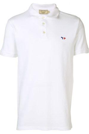 Maison Kitsuné Men Polo Shirts - Logo embroidered polo shirt