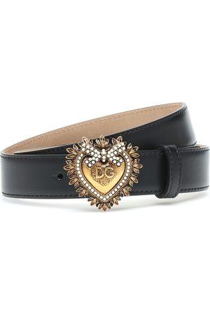 Dolce & Gabbana Devotion embellished leather belt