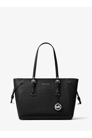 Michael Kors Voyager Medium Crossgrain Leather Tote Bag