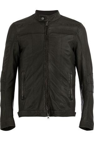DROME Men Leather Jackets - Worn effect jacket