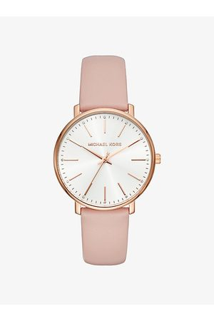 Michael Kors Pyper Rose -Tone Leather Watch