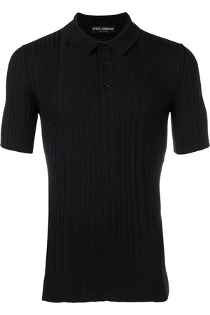 Dolce & Gabbana Men Polo Shirts - Ribbed knit polo shirt