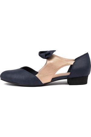 I LOVE BILLY Estella Navy Rose Shoes Womens Shoes Casual Flat Shoes
