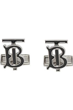 Burberry Monogram Motif Enamel and Palladium-plated Cufflinks