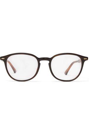 Gucci Round-frame Tortoiseshell-acetate Glasses - Mens - Tortoiseshell