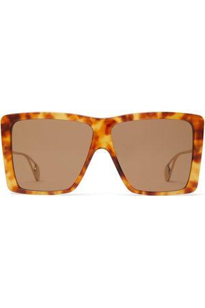 Gucci Oversized Square Acetate Sunglasses - Mens - Tortoiseshell