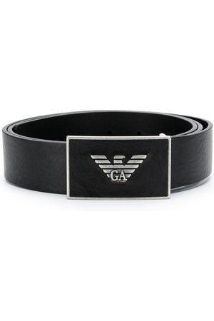 Emporio Armani Men Belts - Metal logo belt