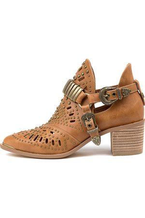 Django & Juliette Women Ankle Boots - Hasper Tan Boots Womens Shoes Casual Ankle Boots