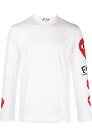 Comme des Garçons Heart printed sleeves T-shirt