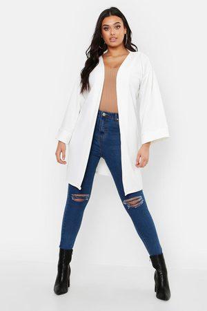 Boohoo Women Kimonos - Plus Kimono Sleeve Duster