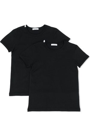 Dolce & Gabbana Boys Short Sleeve - Logo patch T-shirt 2 pack