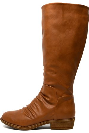 I LOVE BILLY Rexit Tan Boots Womens Shoes Long Boots