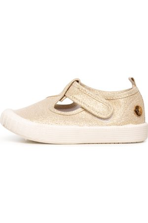 Walnut Melbourne Girls Casual Shoes - Classic Windsor Metallic Shoes Girls Shoes Casual Flat Shoes