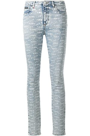 Philipp Plein Women Skinny - Logo print skinny jeans