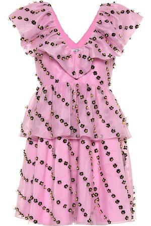 Ganni Exclusive to Mytheresa – floral-embellished dress