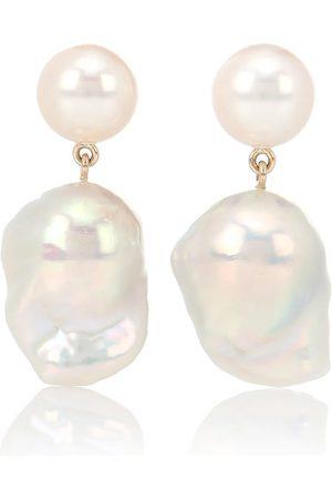 SOPHIE BILLE BRAHE Venus Blac 14kt earrings with pearls