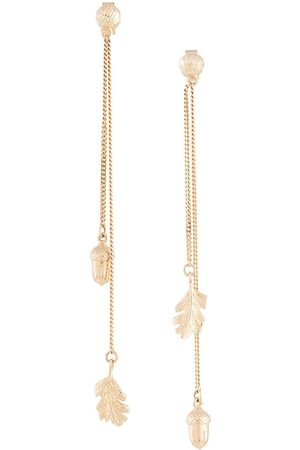 Karen Walker Acorn & leaf pendulum earrings