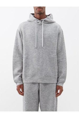Raey Hooded Cashmere-blend Sweatshirt - Mens - Marl