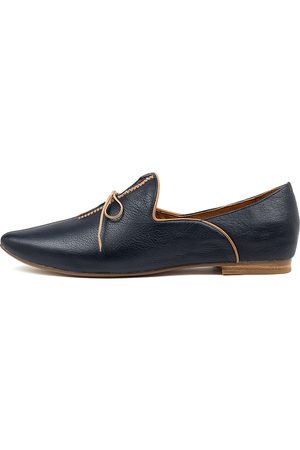 Top end Sommer Navy Tan Shoes Womens Shoes Flat Shoes