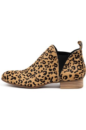 Django & Juliette Foe Ocelot Boots Womens Shoes Casual Ankle Boots