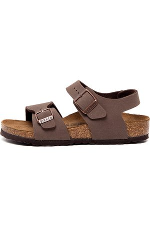 Birkenstock New York Kids Jnr Bk Mocca Sandals Boys Shoes Casual Sandals Flat Sandals