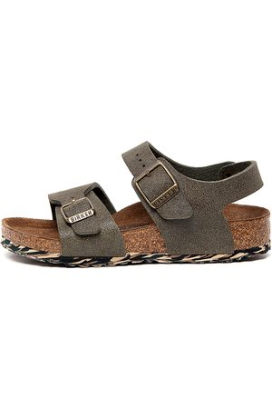 Birkenstock New York Kids Jnr Bk Sandals Boys Shoes Casual Sandals Flat Sandals