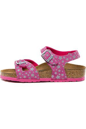 Birkenstock Rio Kids Jnr Bk Stars Fuchsia Sandals Girls Shoes Casual Sandals Flat Sandals