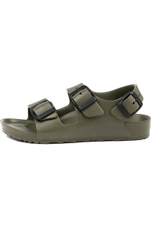 Birkenstock Milanos Kids Eva Jnr Bk Khaki Sandals Boys Shoes Casual Sandals Flat Sandals