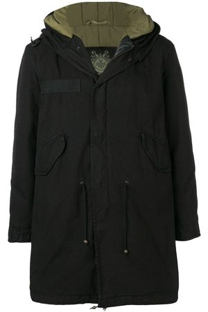 Mr & Mrs Italy Men Parkas - Customisable midi parka with patches