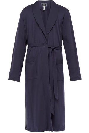 Hanro Night & Day Cotton-jersey Robe - Mens - Navy