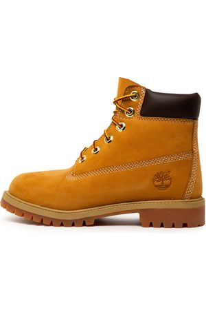 Timberland 6 Premium Icon Boot Jnr L Wheat Boots Boys Shoes Casual Ankle Boots