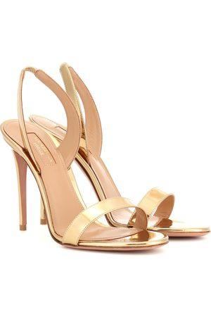 Aquazzura So Nude 105 patent leather sandals