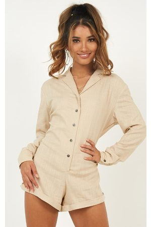 SHOWPO Island Time Playsuit in linen look Playsuits & Jumpsuits