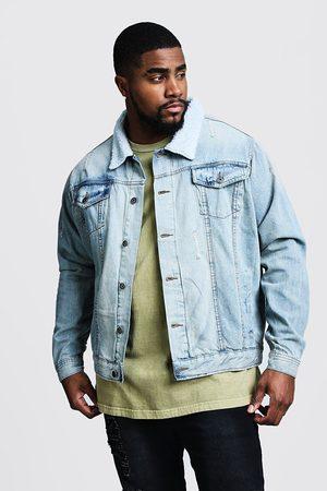 Boohoo Big & Tall Borg Collar Denim Jacket