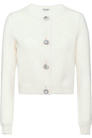 Miu Miu Button-embellished cashmere cardigan