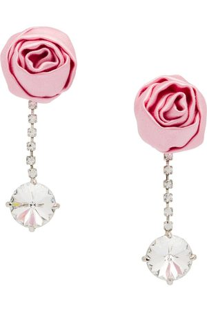 Miu Miu Crystal earrings with rose