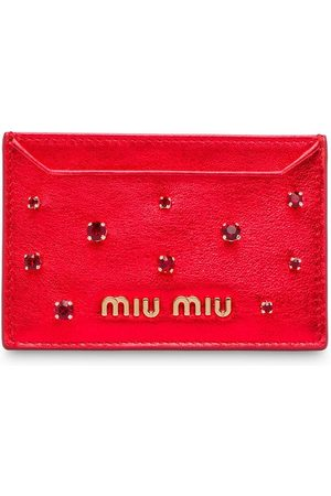 Miu Miu Crystal embellished card holder
