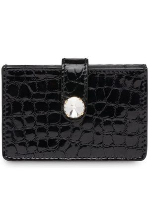 Miu Miu Crocodile-print patent leather card holder