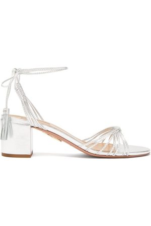 Aquazzura Mescal 50 Tasselled Leather Sandal - Womens