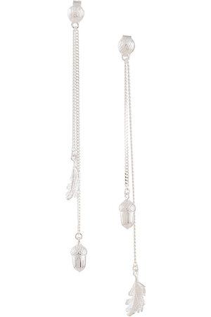 Karen Walker Women Earrings - Acorn & leaf pendulum earrings