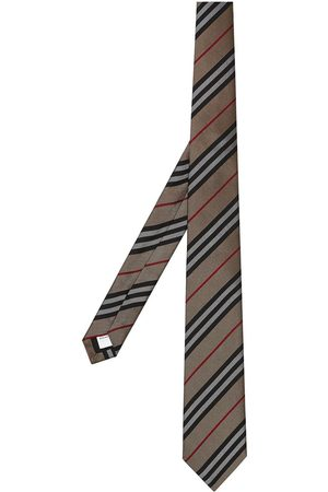 Burberry Classic Cut Icon Stripe Silk Tie