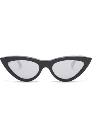Céline Cat Eye Mirrored Acetate Sunglasses - Womens