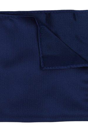 Yd. Men Pocket Squares - Herringbone Pocket Square Navy One