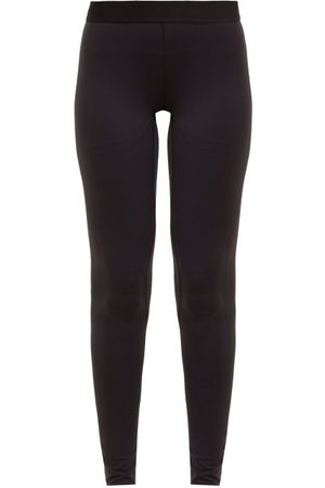 Raey Contrast Waistband Leggings - Womens - Navy